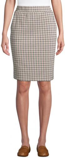 Lands' End Women's Petite Sport Knit - Lands' End - Ivory - XS Pencil Skirt