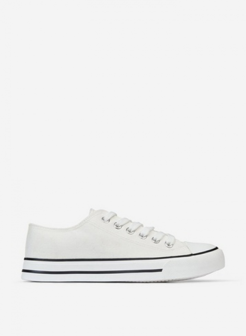Dorothy Perkins White 'Icon' Canvas Trainer