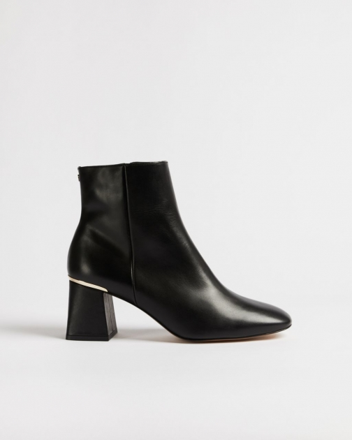 Ted Baker Square Toe Block Heel Boot