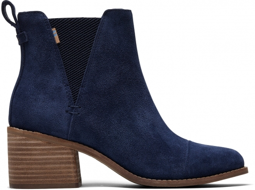 Toms Navy Suede Women's Esme Ankle Boot