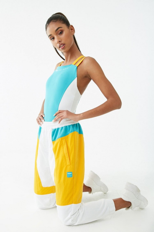 Forever21 Forever 21 Reebok X Gigi Hadid Colorblock Yellow/white Jogger