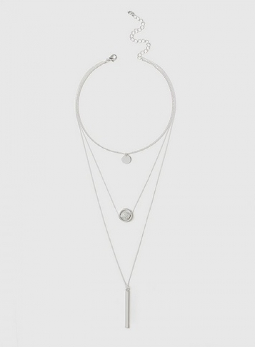 Dorothy Perkins Silver Spinner Necklace Chokers
