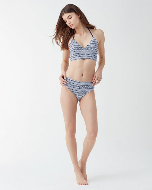 Splendid Womens Nautical By Nature Removable Soft Cup Bra Navy - Size M Bikini