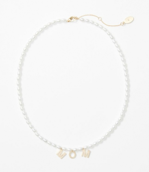 Loft Pearlized Mom Necklace