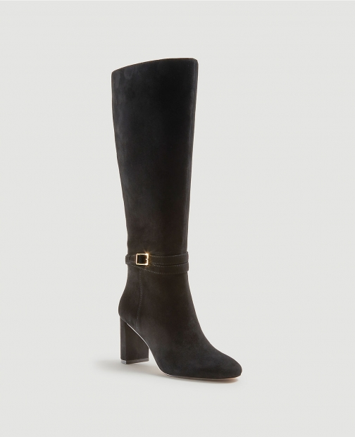 Ann Taylor Isabella Suede Buckle Heeled Boot