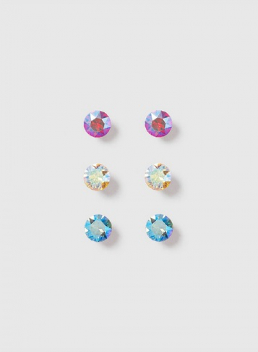 Dorothy Perkins Yellow, Pink And Blue Pack Of 3 Stud Earring