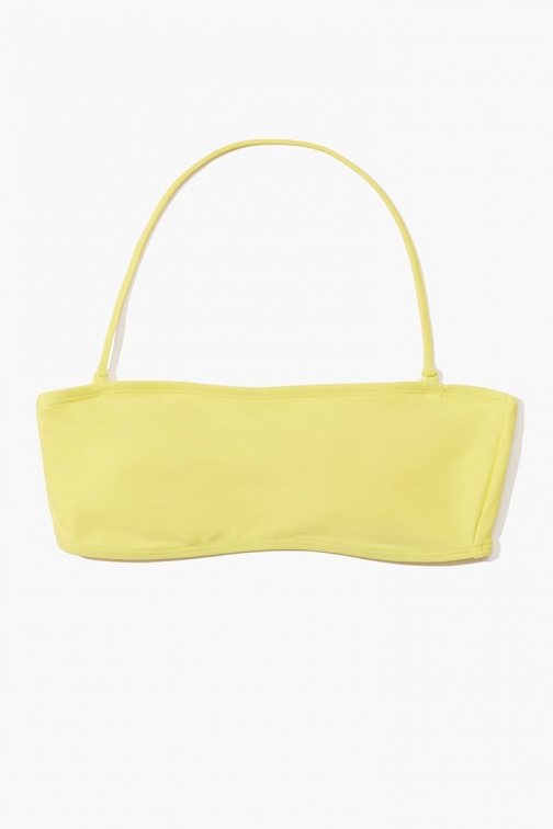 Forever21 Forever 21 Bandeau Top , Yellow Bikini