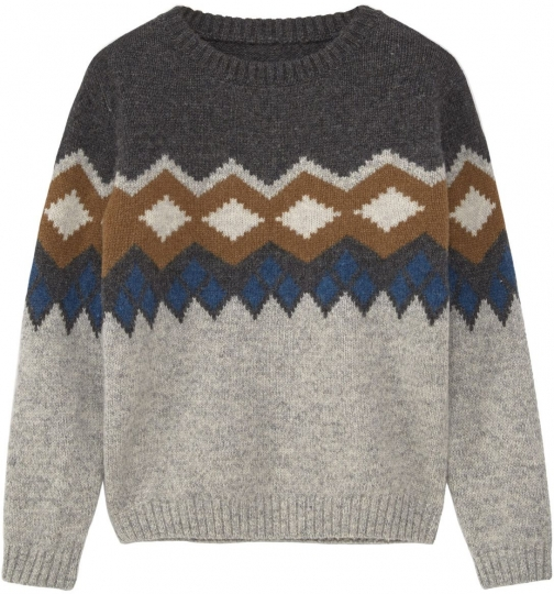 Mango Boys Jacquard Wool Sweater Clothing