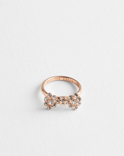 Ted Baker Crystal Bow Ring