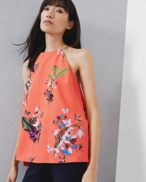 Ted Baker Tropical Oasis Chain Detail Top Shirt