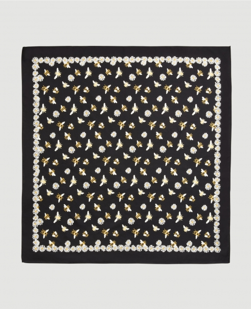 Ann Taylor Factory Bumble Bee Square Scarf