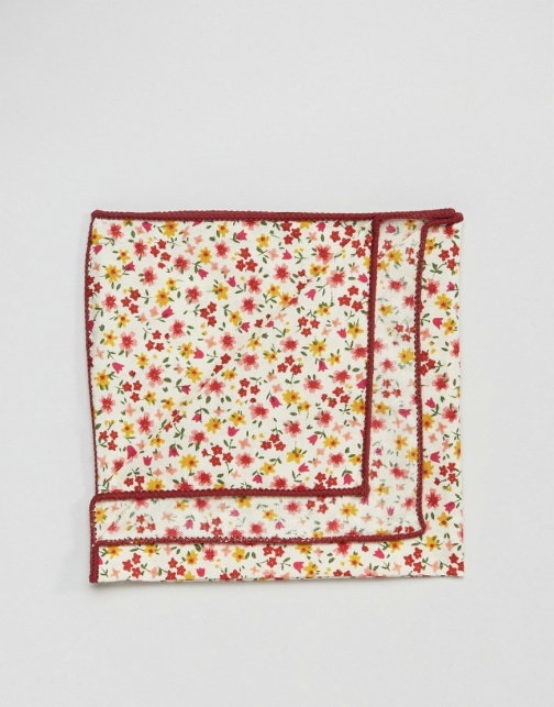 Asos 7X Ditsy Floral Box Pocket Square