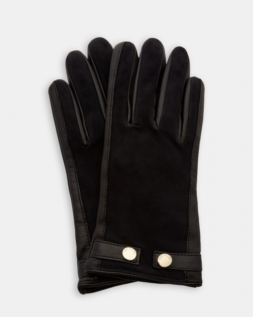 Ted Baker Suede Detail Leather Glove