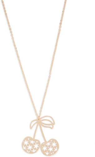 Forever21 Forever 21 Cherry Cutout Pendant Gold Necklace
