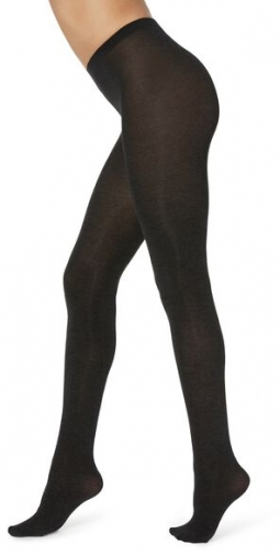 Calzedonia Super Opaque With Cashmere Woman Dark Grey Size 4 Tight