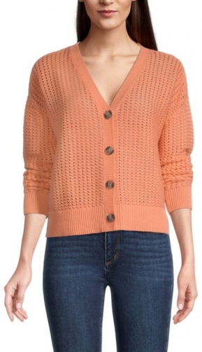 Loft Stitchy V-Neck Cardigan
