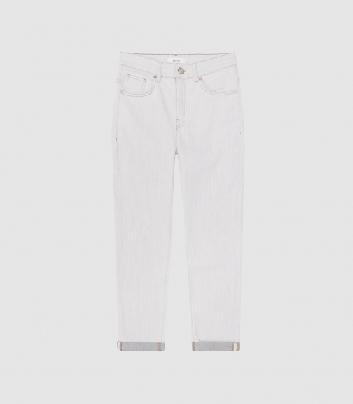 Reiss Sienna - Mid-rise Grey, Womens, Size 26 Straight Leg Jeans
