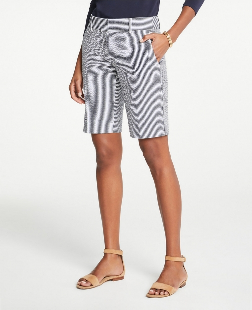 Ann Taylor Seersucker Boardwalk Short