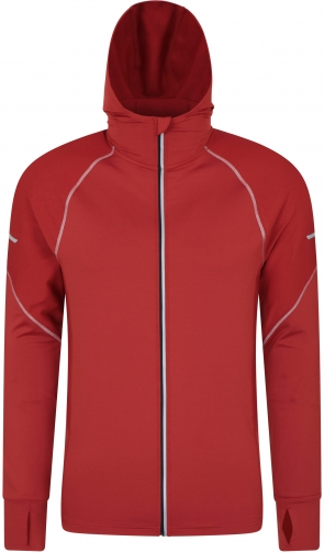 Mountain Warehouse Control Mens Reflective Running - Red Hoodie