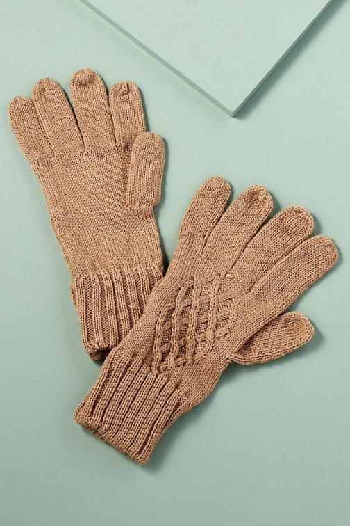 Anthropologie Cable-Knit Glove