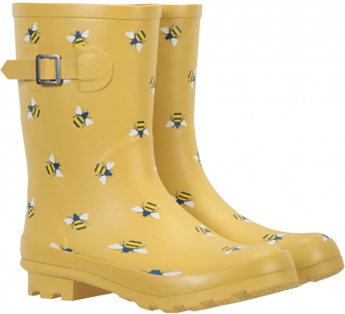 Mountain Warehouse Womens Printed Mid-Height - Yellow Welly