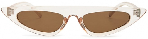 Forever21 Forever 21 Cat-Eye Tinted Champagne/brown Sunglasses