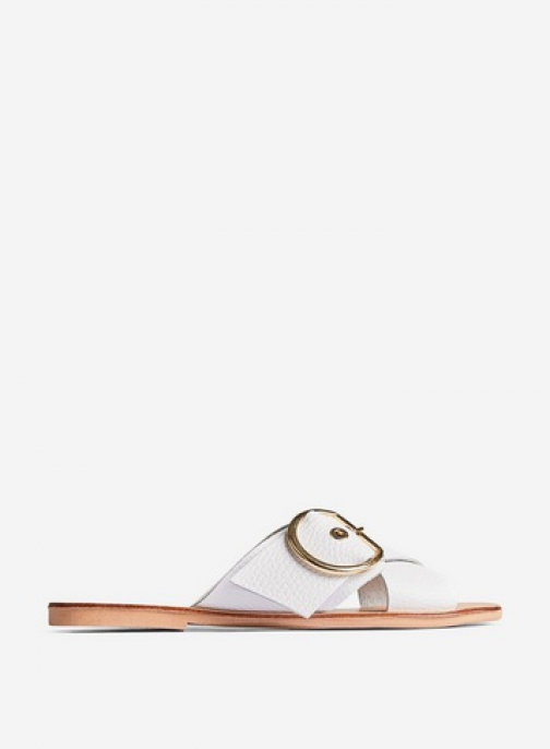 Dorothy Perkins White Leather 'Jay Jay' Sandals