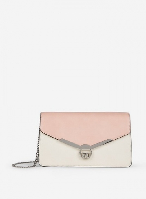 Dorothy Perkins Blush And Cream Twistlock Bag Clutch