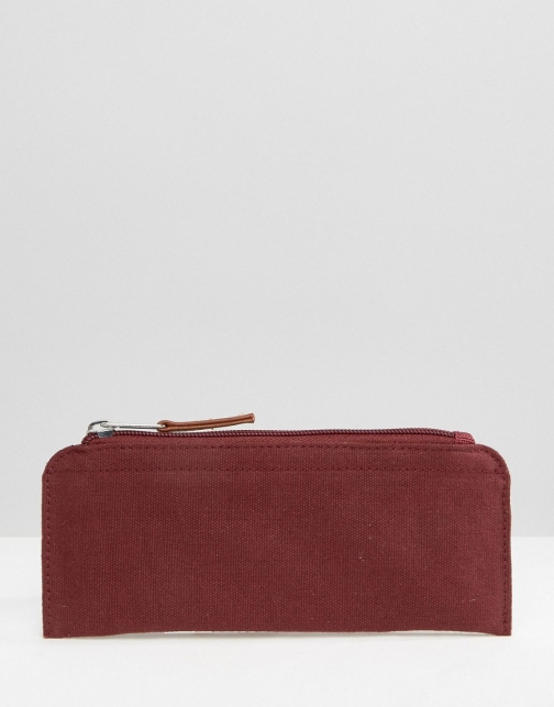 Asos Canvas Pencil Burgundy Case