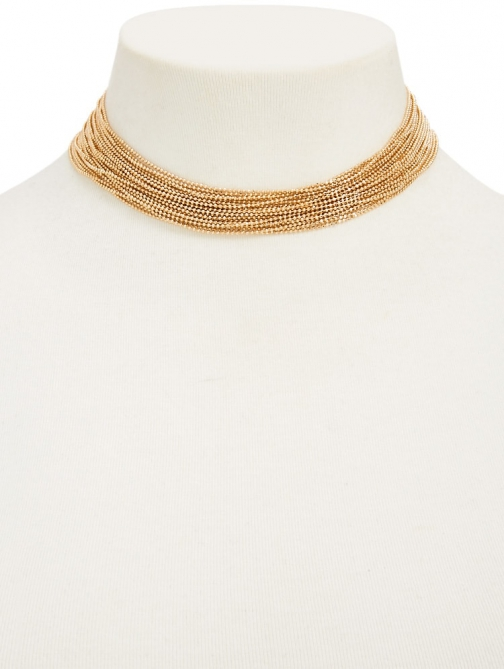 Forever21 Forever 21 Beaded Chain-Link , Gold Chokers