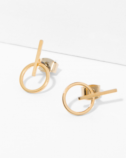 7 For All Mankind Women's Five And Two Bianca Gold Earring