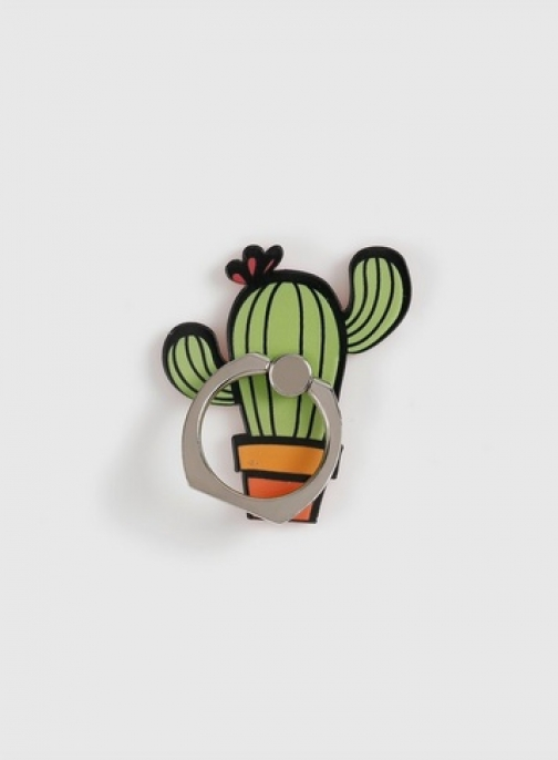 Dorothy Perkins Green Cactus Phone Ring