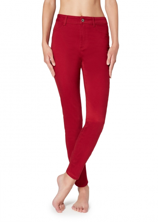 Calzedonia - Push-up And Soft Touch , XS SHORT, Red, Women Jeans