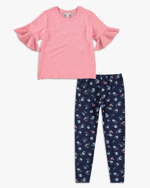 Splendid Little Girl Flounce Top Set Shirt