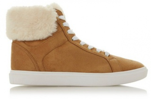 Head Over Heels By Dune Brown 'Ello' Ladies Trainer