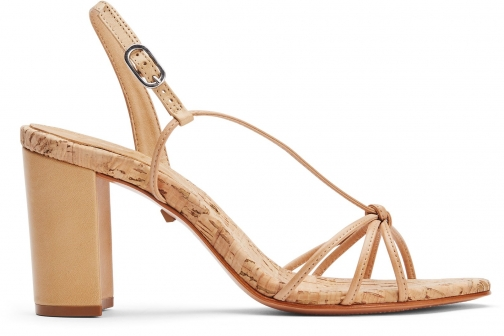 Schutz Shoes Rita Sandal - 8 Lightwood Leather Sandals