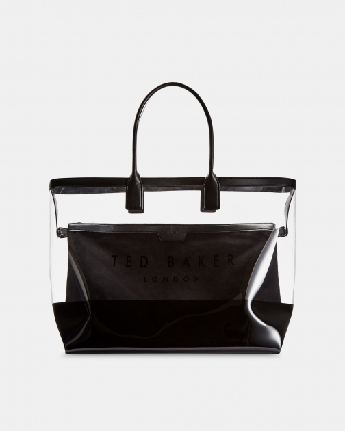 Ted Baker Clear Canvas Shopper Pouch