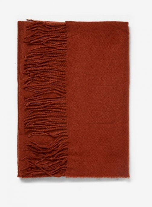 Dorothy Perkins Womens Rust Plain Acrylic - Red, Red Scarf