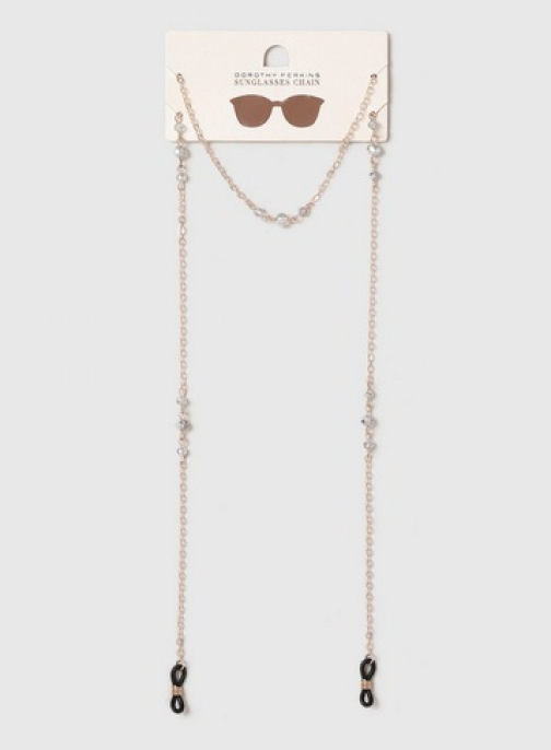 Dorothy Perkins Rose Gold Beaded Chain Sunglasses