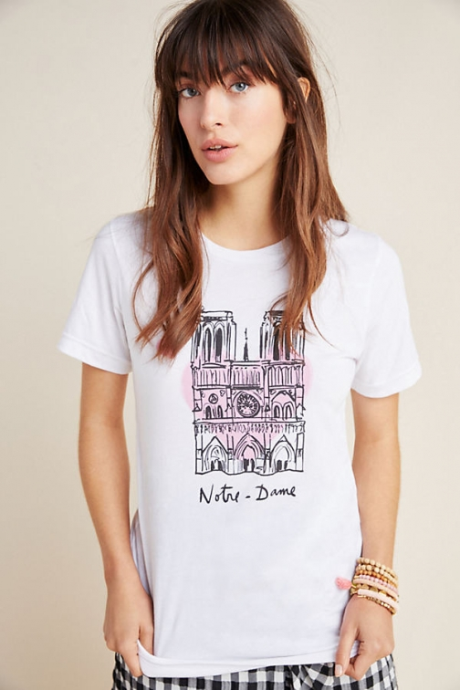 Anthropologie Notre Dame Graphic Tee T-Shirt