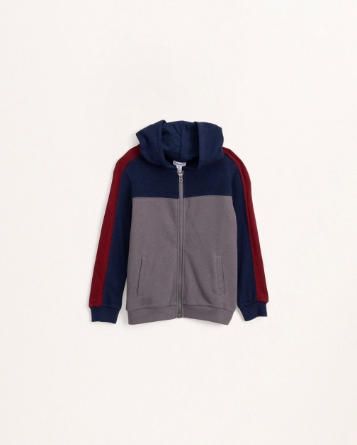 Splendid Youth Boys Little Boy Tri-Color Smoked Pearl - Size 4-5 Hoodie