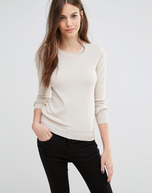 Sisley Cashmere Mix Crew Neck Jumper