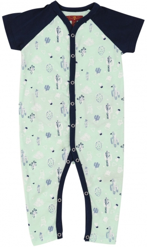 7 For All Mankind Men's Boy's 0-9 Coverall Cactus Print Jumpsuit