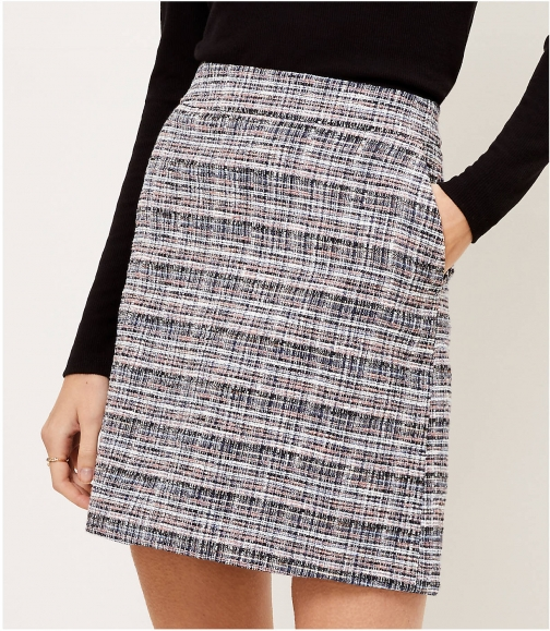 Loft Tweed Pocket Mini Skirt