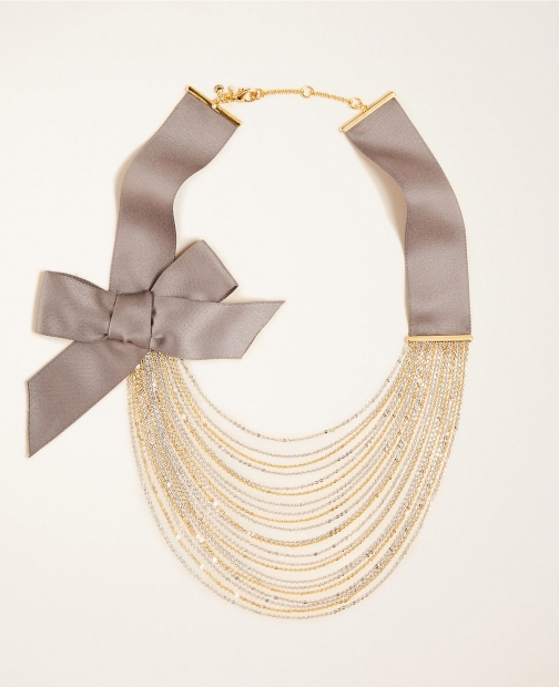 Ann Taylor Bow Multistrand Necklace
