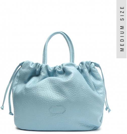 Schutz Shoes Kika Embossed Leather - O/S Wonder Blue Embossed Leather Tote
