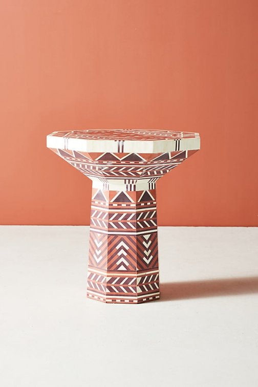 Anthropologie Flagstaff Side Table - Orange Accessorie