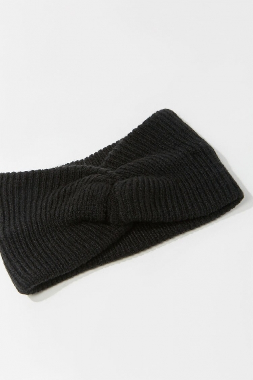 Forever21 Forever 21 Twisted Ribbed Headwrap , Black Headwear