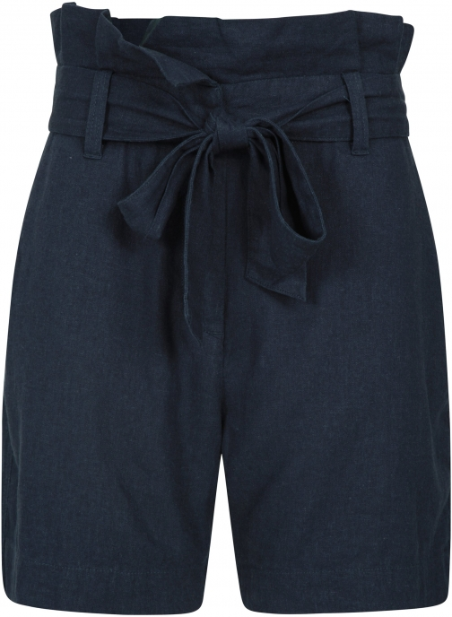 Mountain Warehouse Womens Linen Paperbag - Navy Short