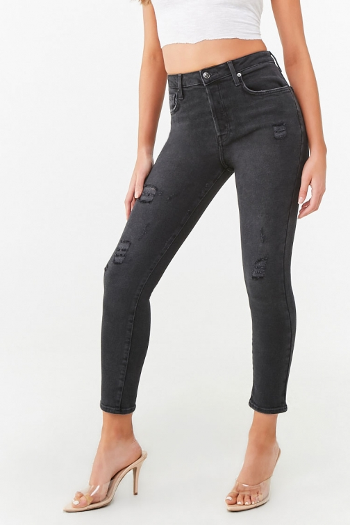 Forever21 Forever 21 The Westwood Mom , Black Jeans